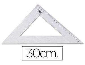 ESCUADRA 30 CM PLASTICO CRISTAL LIDERPAPEL