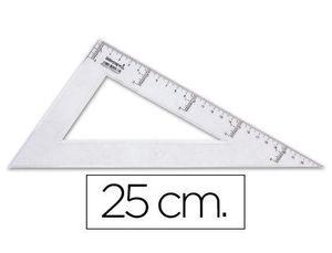 CARTABON 25 CM PLASTICO CRISTAL LIDERPAPEL