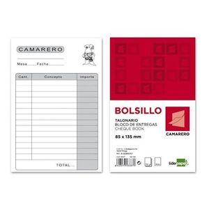 TALONARIO CAMARERO BOLSILLO 23337 LIDERPAPEL T150