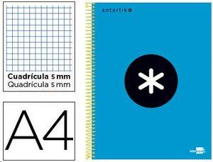 BLOC MICROPERFORADO LIDERPAPEL DIN A-4 ANTARTIK 120H CUADRICULA AZUL T CARTON