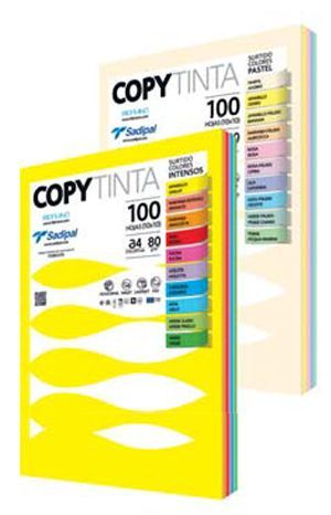 PAPEL DIN A-4 80 GRS COLORES SURTIDOS INTENSO PAQUETE 100 HOJAS
