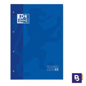 BLOC DE RECAMBIO OXFORD CUADRICULADO A4 80H 90G COLOR 1 AZUL MARINO 400 123 672