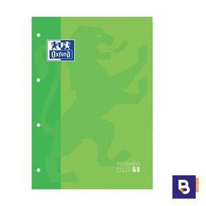 BLOC DE RECAMBIO OXFORD CUADRICULADO A4 80H 90G COLOR 1 VERDE 400 123 674