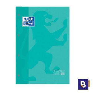 BLOC DE RECAMBIO OXFORD CUADRICULADO A4 80H 90G COLOR 1 VERDE MINT 400 123 680
