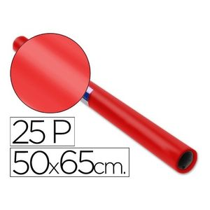 PAPEL CHAROL ROLLO 25 PLIEGOS SEMI-PERFORADOS DE 50 X 65 CM. ROJO