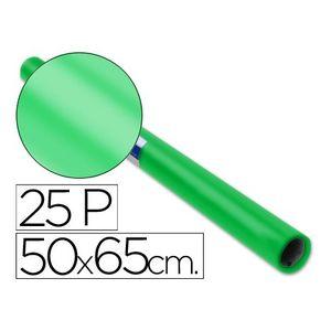 PAPEL CHAROL ROLLO 25 PLIEGOS SEMI-PERFORADOS DE 50 X 65 CM. VERDE