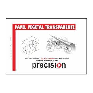 BLOC PAPEL VEGETAL TRANSPARENTE PRECISION 50 HOJAS A-4