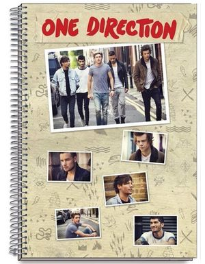 BLOC ESPIRAL DIN A-4 ONE DIRECTION