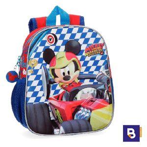 MOCHILA PEQUEÑA 25CM JOUMMA BAGS MICKEY ROADSTER RACERS FRONTAL 3D 4282061