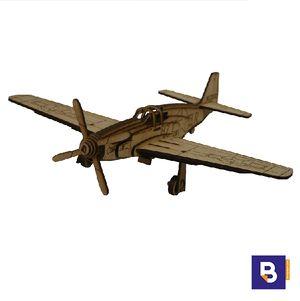 MAQUETA WOOD MODELS MUSTANG P-51 MOD 25083