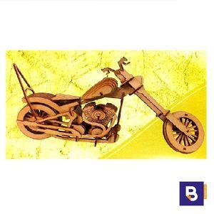 MAQUETA WOOD MODELS MOTO CHOPPER 25096