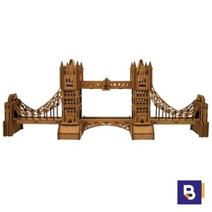 MAQUETA DE MADERA WOOD MODELS PUENTE DE LONDRES TOWER BRIDGE LONDON 25108