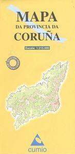 MAPA PROVINCIA DA CORUÑA ESCALA 1:215.000