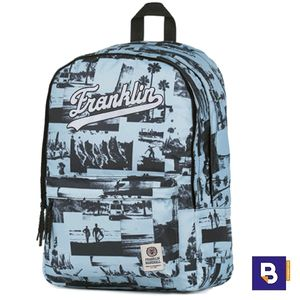 MOCHILA DOBLE SENFORT FRANKLIN MARSHALL F&M SURF AZUL 182FMG70375