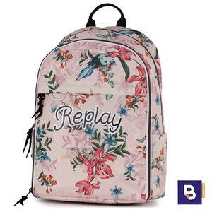MOCHILA DOBLE SENFORT REPLAY GIRLS FLORES ROSA 192RPG70377
