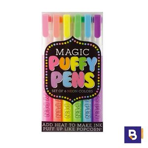 SET 6 BOLIGRAFOS NEON PARA CREAR EFECTOS 3D OOLY MAGIC PUFFY PENS 132-061