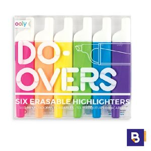 SET 6 ROTULADORES FLUORESCENTES BORRABLES OOLY DO OVERS 130-047