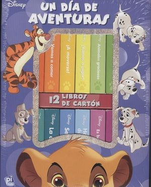 MI PRIMERA LIBRERIA DISNEY UN DIA DE AVENTURAS 12 LIBROS CARTON