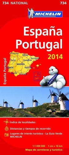 MAPA 734 ESPAÑA-PORTUGAL 2014