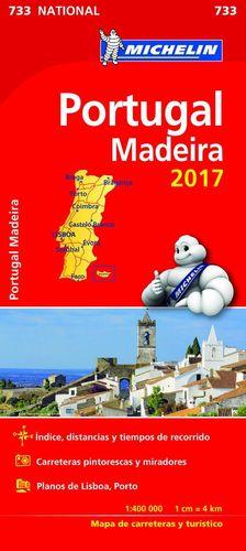 MAPA CARRETERAS PORTUGAL 733 NATIONAL ESCALA 1:400 000