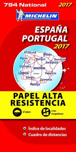 MAPA NATIONAL ESPAÑA - PORTUGAL