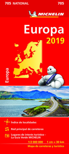 MAPA NATIONAL EUROPA MICHELIN 705