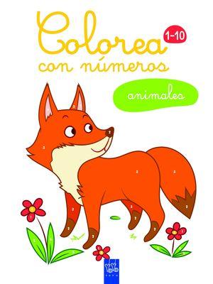 ANIMALES COLOREA CON NUMEROS 1-10