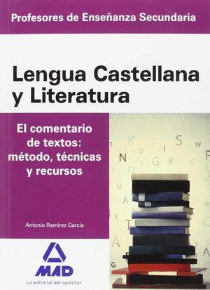 CUERPO DE PROFESORES DE ENSEÑANZA SECUNDARIA. LENGUA CASTELLANA Y LITERATURA. EL