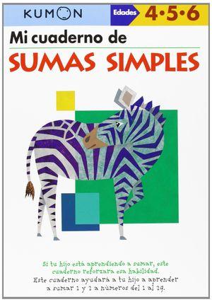 MI CUADERNO DE SUMAS SIMPLES 4-5-6 AÑOS