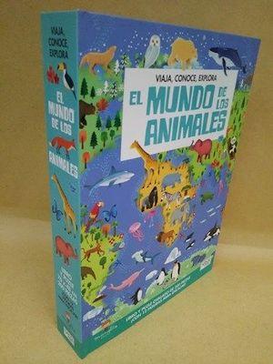 PUZZLE 200 PIEZAS MUNDO DE LOS ANIMALES, EL VIAJA, CONOCE, EXPLORA