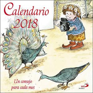CALENDARIO UN CONSEJO PARA CADA MES 2018