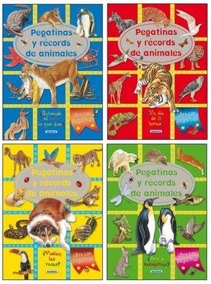 PEGATINAS Y RÉCORDS DE ANIMALES (4 TÍTULOS)