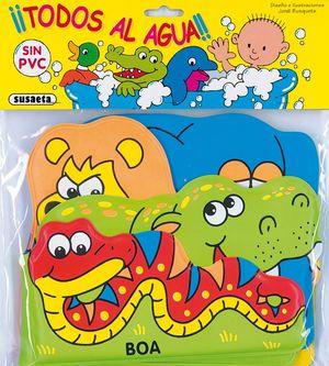ANIMALITOS DE LA SELVA TODOS AL AGUA -  LIBRO DE BAÑO