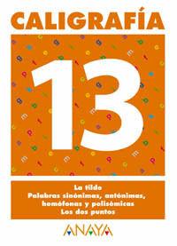 CALIGRAFÍA 13.
