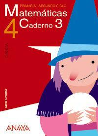 MATEMÁTICAS 4. CADERNO 3 GALEGO