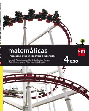 MATEMÁTICAS ACADÉMICAS 4ºESO SAVIA 2016