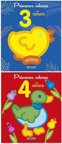 PRIMEROS COLORES 3-4 AÑOS COLOREAR