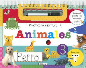 ANIMALES PRACTICA LA ESCRITURA - LIBRO PIZARRA