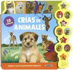 CRÍAS DE ANIMALES - 10 SONIDOS - LIBRO DE SONIDOS