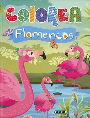 COLOREA FLAMENCOS ( VERDE )