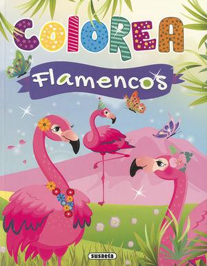 COLOREA FLAMENCOS ( AZUL )