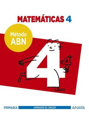 MATEMÁTICAS 4. MÉTODO ABN.