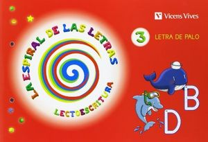 LETRA PALO 3.LECTOESCRITURA / ESPIRAL DE LETRAS / 2013