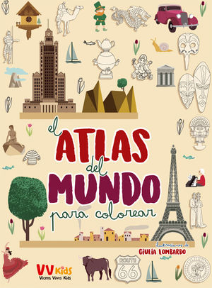 ATLAS DEL MUNDO PARA COLOREAR (VVKIDS) VICENS