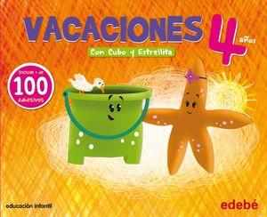 VACACIONES 4 AÑOS CON CUBO Y ESTRELLITA