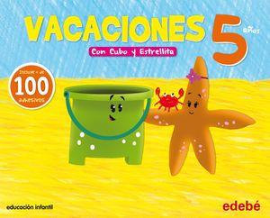 VACACIONES 5 AÑOS CON CUBO Y ESTRELLITA