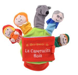 LA CAPERUCITA ROJA - LIBRO DE TELA - GUANTE CON TÍTERES DE DEDO