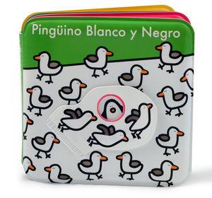 LIBRO DE BAÑO. PINGÜINO BLANCO Y NEGRO