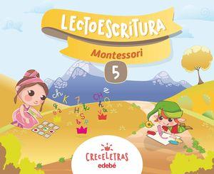 CRECELETRAS LECTOESCRITURA 5 MONTESSORI
