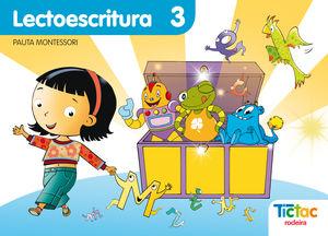 CADERNO LECTOESCRITURA Nº3 PAUTA (G) TIC TAC 10